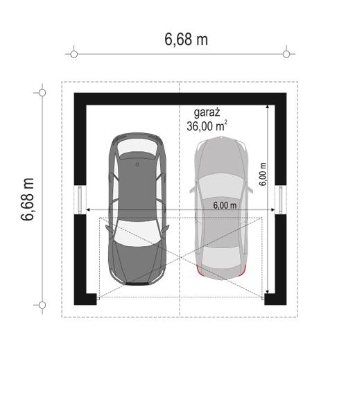 Garaż BG12 - rzut parteru