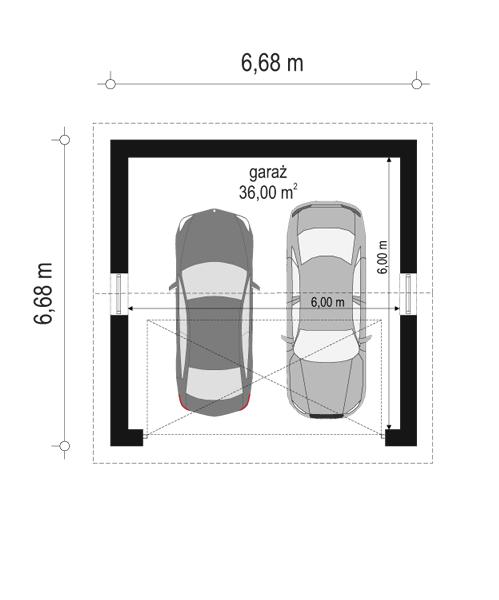 Garaż BG13 - rzut parteru