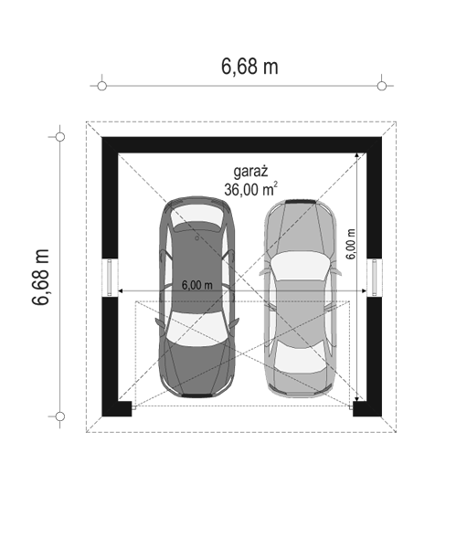 Garaż BG14 - rzut parteru