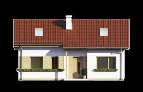 Projekt domu Biedronka wariant B odbicie lustrzane