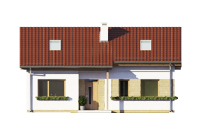 Projekt domu Biedronka wariant B