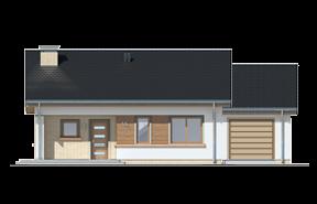 Projekt domu bonifacy wariant B odbicie lustrzane