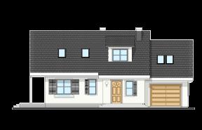 Projekt domu Bryza 4 wariant B odbicie lustrzane