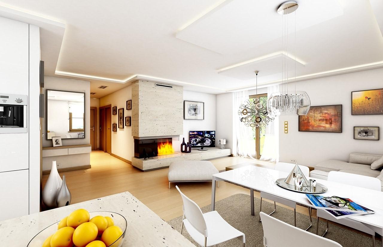 Wnętrze domu Jak marzenie z garażem odbicie lustrzane