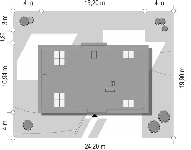 Dom na górce - sytuacja
