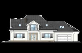 Dom z kolumnami wariant B wizualizacja lustrzane odbicie