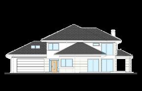 Dom z widokiem 3 wariant B wizualizacja lustrzane odbicie