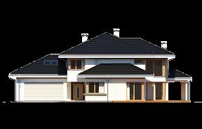 Dom z widokiem 3 wariant C wizualizacja lustrzane odbicie