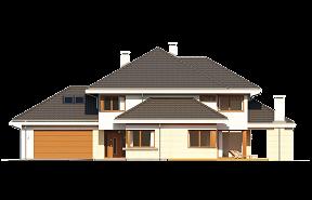 Dom z widokiem 3 wariant E wizualizacja lustrzane odbicie