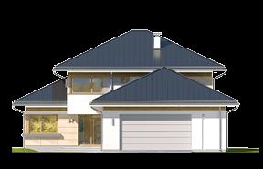 Dom z widokiem 3 wariant F wizualizacja lustrzane odbicie
