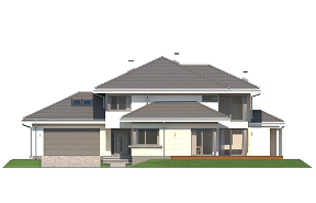 Dom z widokiem 3 wariant H wizualizacja lustrzane odbicie