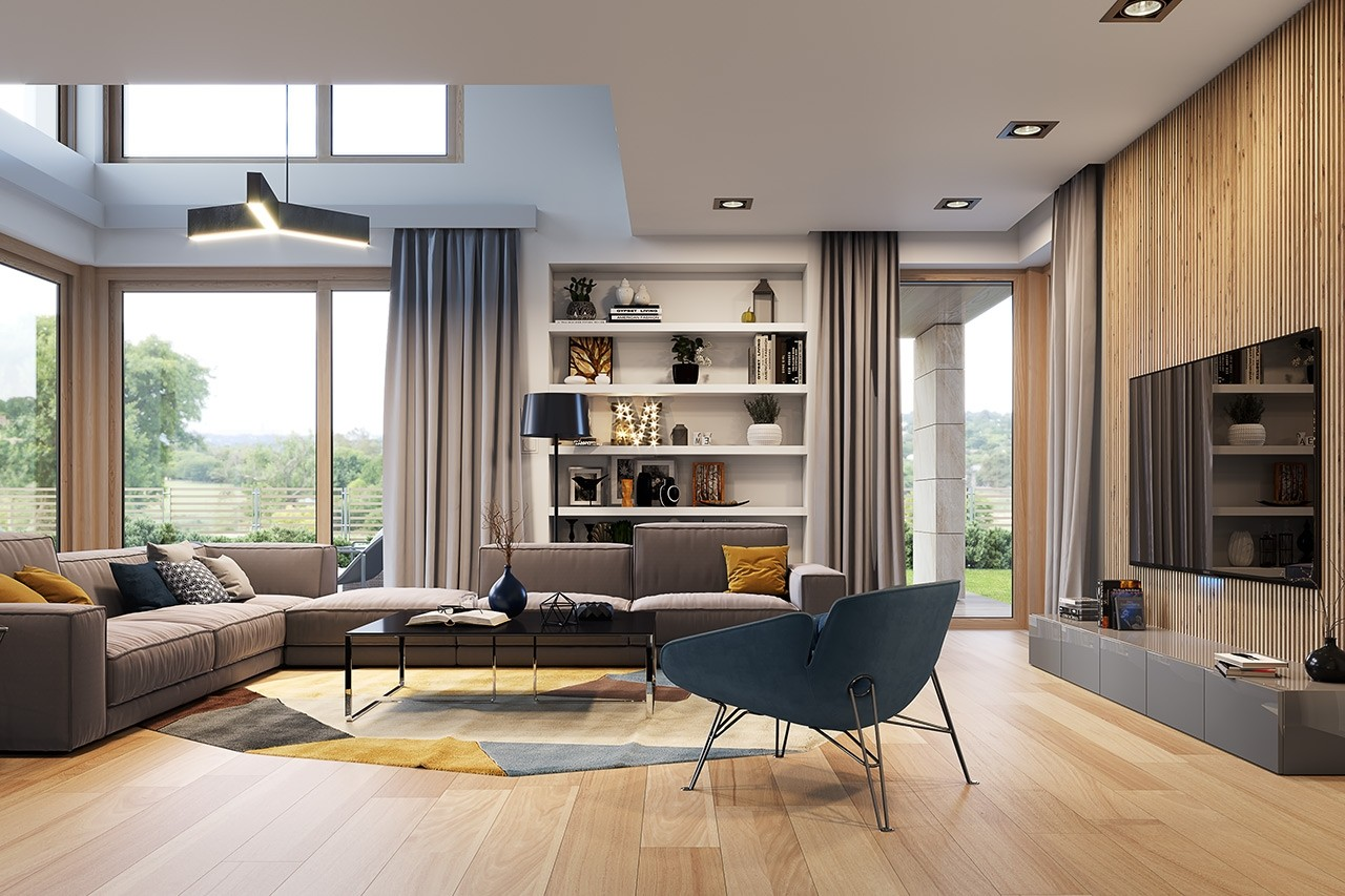 Wizualizacja wnętrza Projektu domu Dom z widokiem 3 wariant B