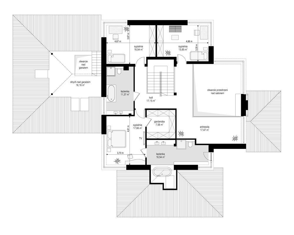 Dom z widokiem 4 - rzut piętra