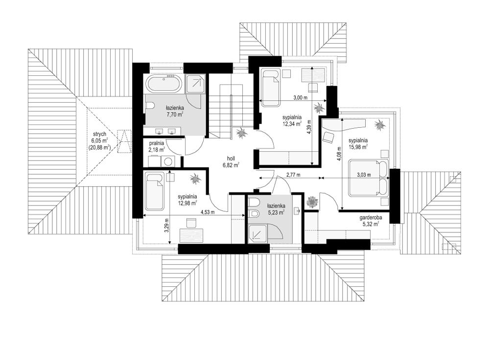 Dom z widokiem 5 - rzut piętra