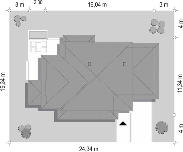 Dom z widokiem 5 - sytuacja odbicie lustrzane