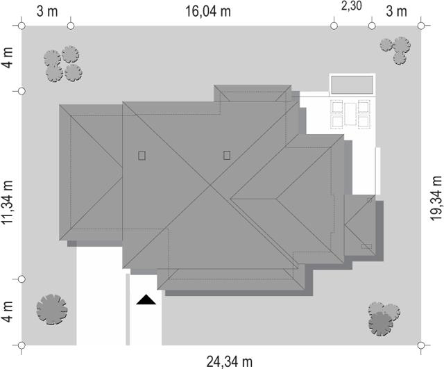 Dom z widokiem 5 - sytuacja