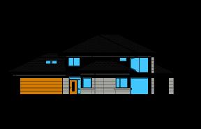 Dom z widokiem 6 wariant C odbicie lustrzane