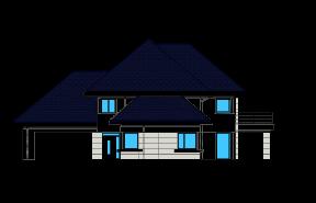 Dom z widokiem 6 wariant D odbicie lustrzane
