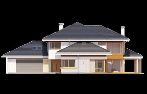 Dom z widokiem wariant C wizualizacja lustrzane odbicie