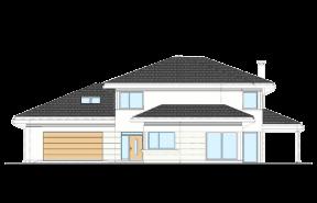 Dom z widokiem wariant K odbicie lustrzane
