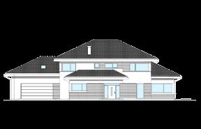 Dom z widokiem wariant M odbicie lustrzane