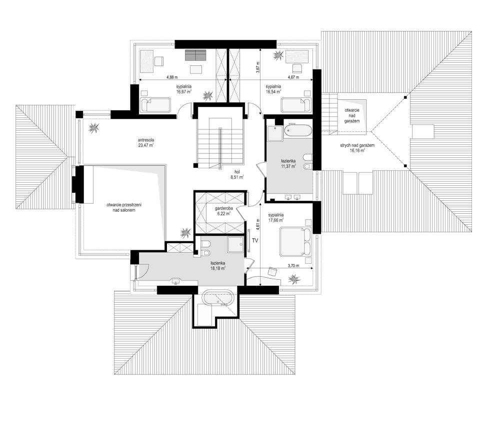 Dom z widokiem - rzut piętra