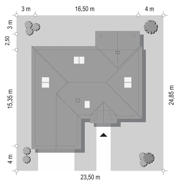 Dom na parkowej 6 wariant B - sytuacja