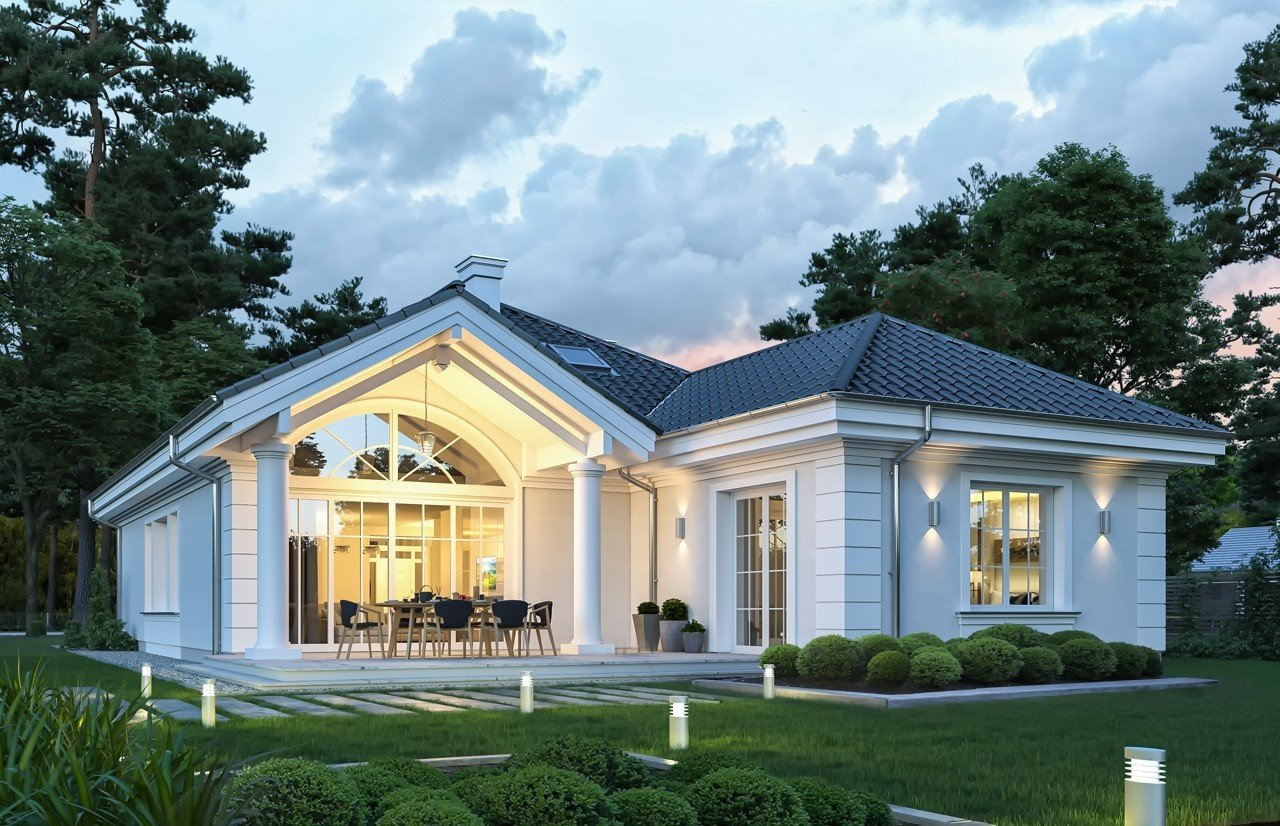 Projekt domu Dom na Parkowej 7 C - wizualizacja tylna