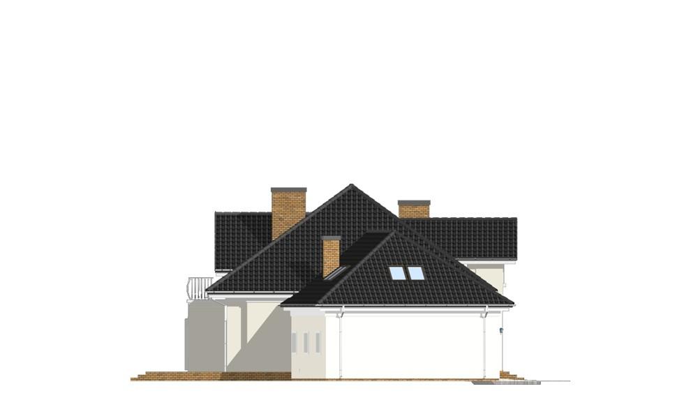 Dom z kolumnami - elewacja