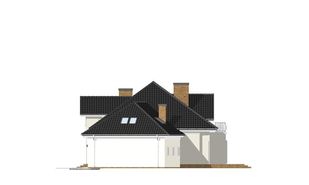 Dom z kolumnami - elewacja odbicie lustrzane