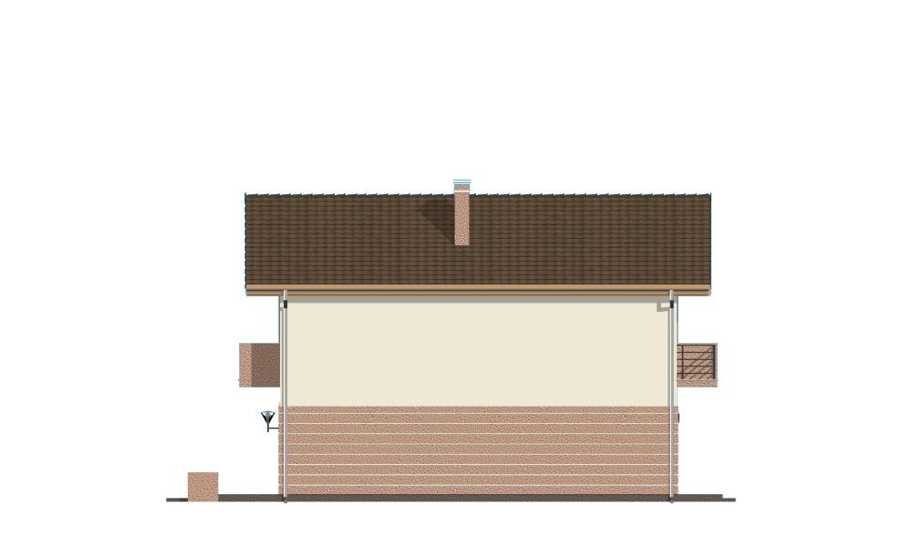 Dom z piętrem - elewacja