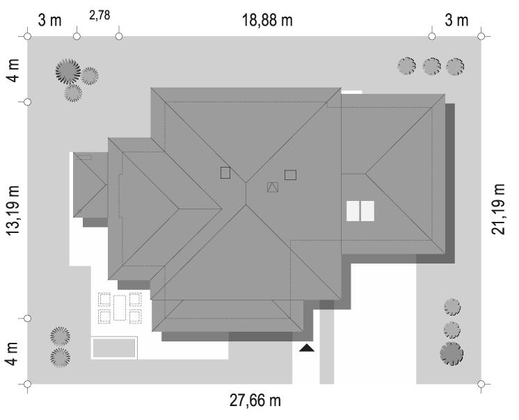 Dom z widokiem 3 wariant G - sytuacja