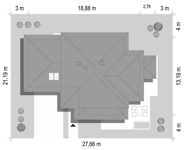 Dom z widokiem 3 wariant G - sytuacja odbicie lustrzane