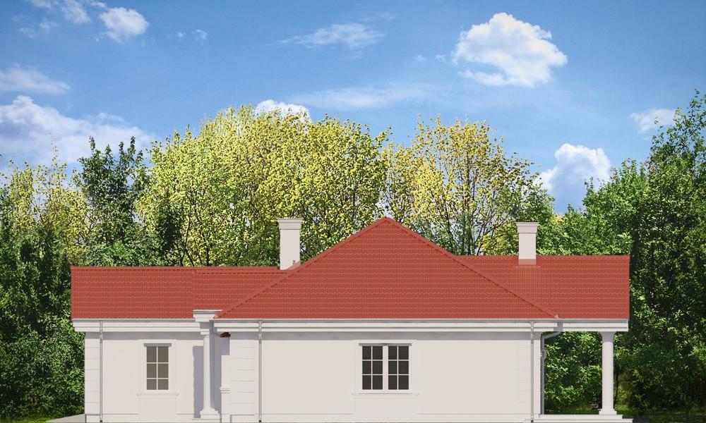 Dom na parkowej 2 - elewacja