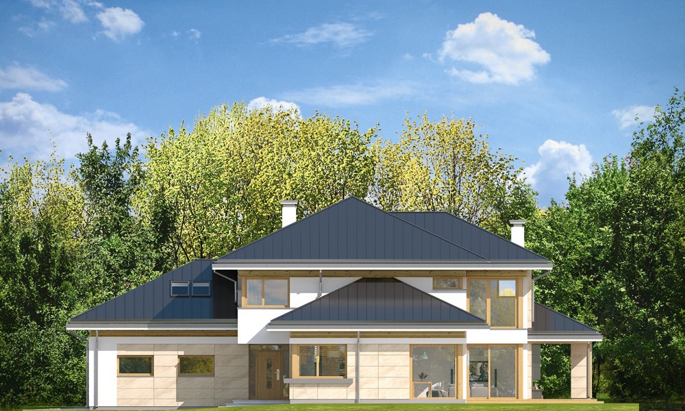 Dom z widokiem 3 F - elewacje