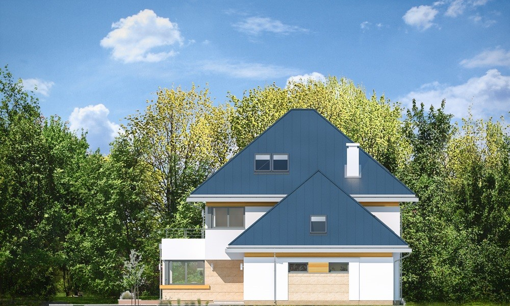 Dom z widokiem 2 C - elewacje odbicie lustrzane