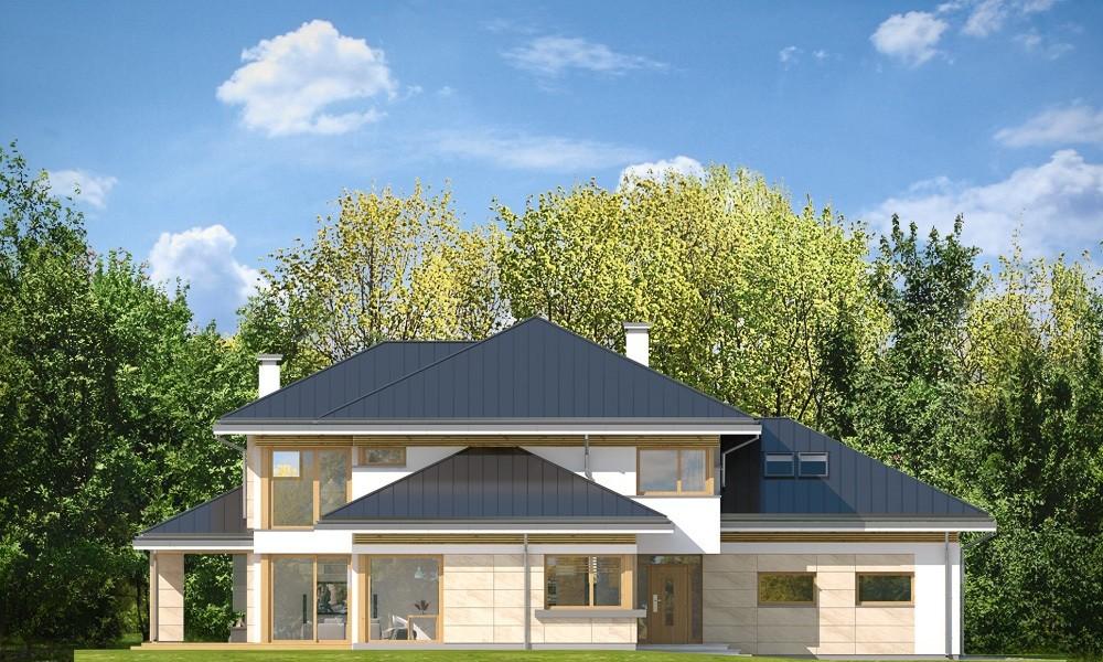 Dom z widokiem 3 F - elewacje odbicie lustrzane