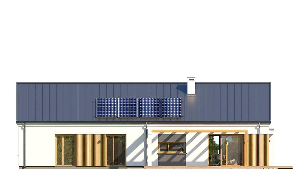 Projekt domu Wąski 3 - elewacja