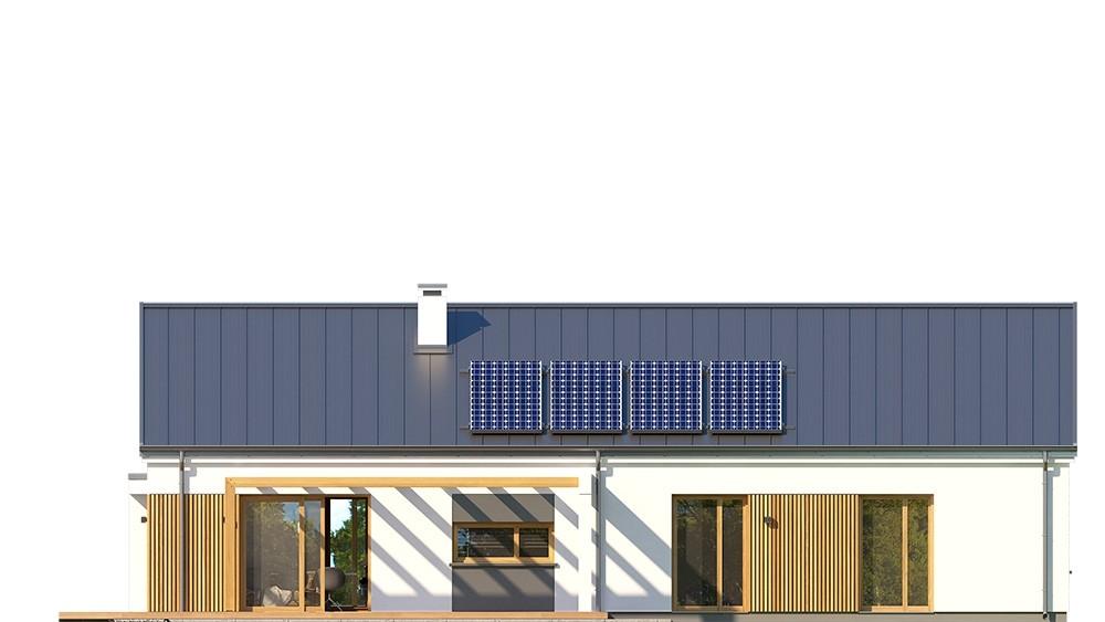 Projekt domu Wąski 3 - elewacja odbicie lustrzane