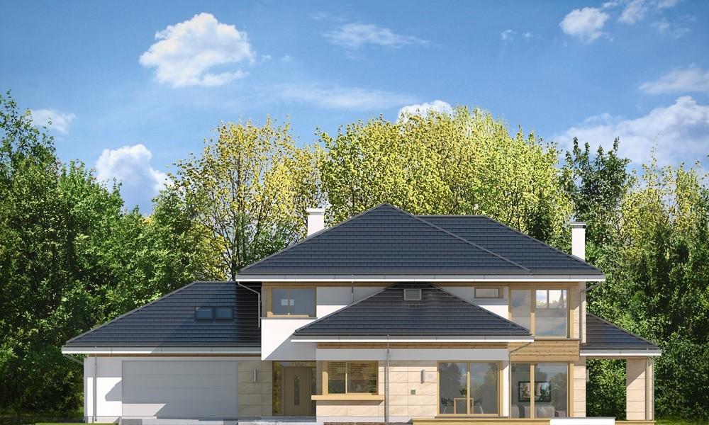 Dom z widokiem B - elewacje odbicie lustrzane