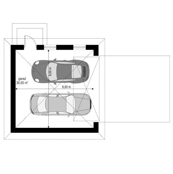 Filip - rzut garażu odbicie lustrzane