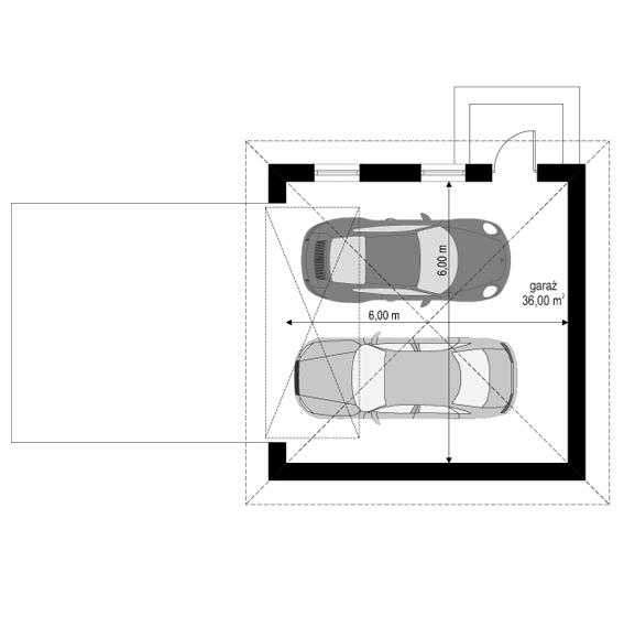 Filip - rzut garażu