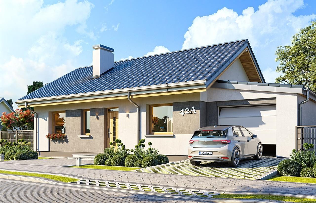 Projekt domu Kasia 4 - wizualizacja frontu