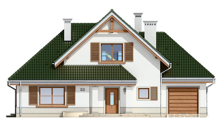 Dom w brzozach - elewacja