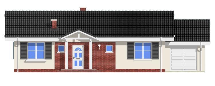 Słoneczny z garażem - elewacje