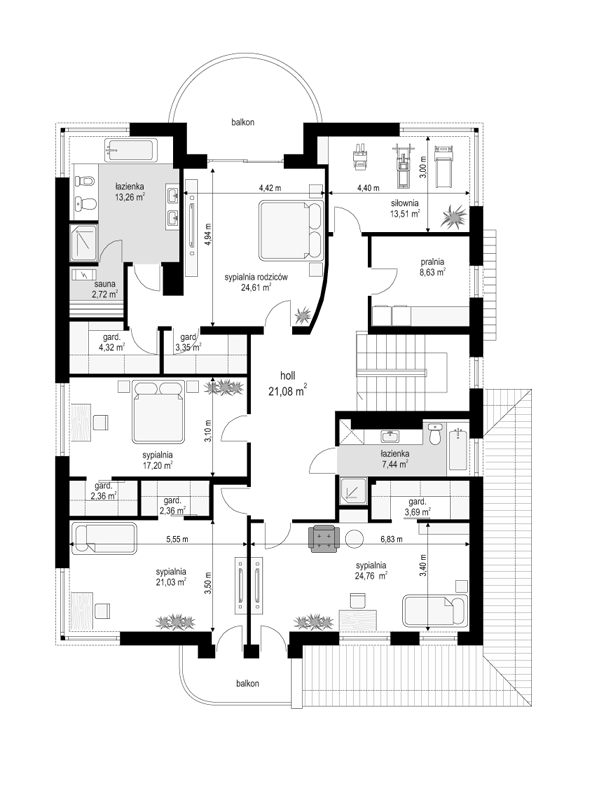 Gabriela 2 - rzut piętra