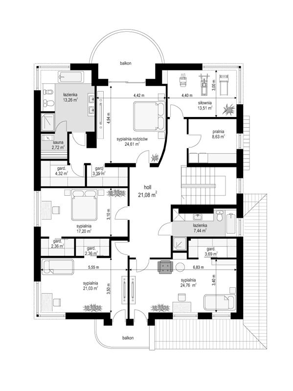 Gabriela 3 - rzut piętra