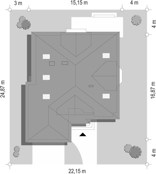 Hornówek 2 - sytuacja odbicie lustrzane