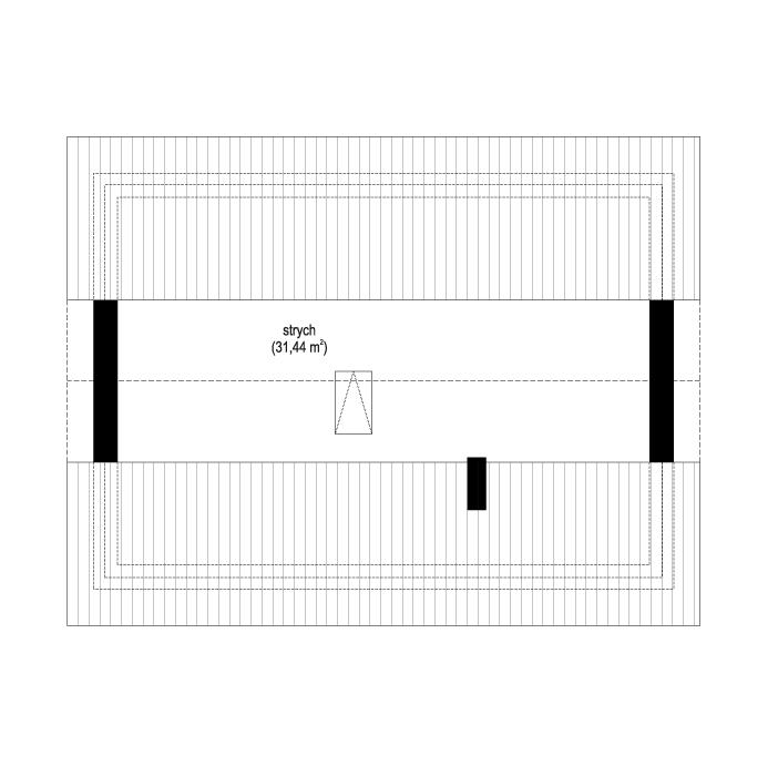 Kasia 2 - rzut strychu odbicie lustrzane