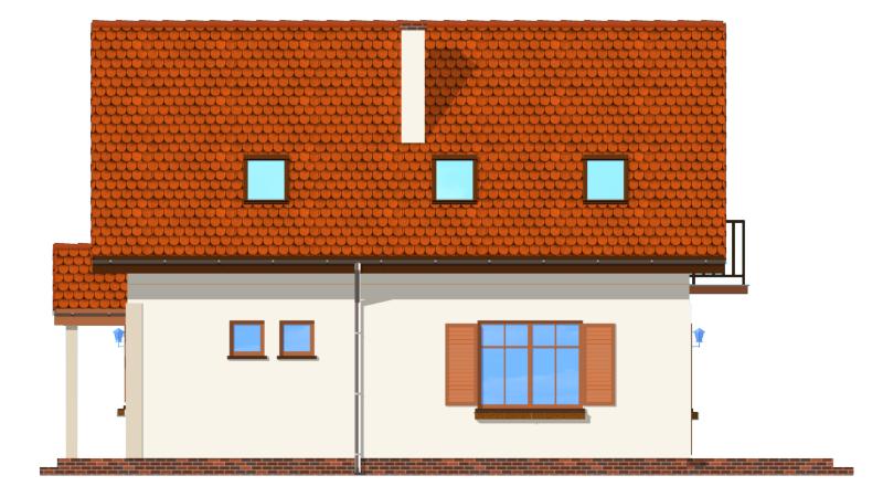 Pierwszy dom - odbicie lustrzane